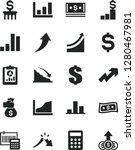 solid black vector icon set  ... | Shutterstock .eps vector #1280467981