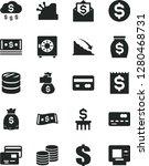 solid black vector icon set  ... | Shutterstock .eps vector #1280468731