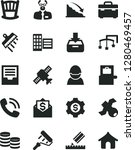 solid black vector icon set  ... | Shutterstock .eps vector #1280469457