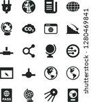 solid black vector icon set  ... | Shutterstock .eps vector #1280469841