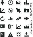solid black vector icon set  ... | Shutterstock .eps vector #1280469871