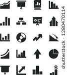 solid black vector icon set  ... | Shutterstock .eps vector #1280470114