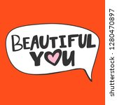 beautiful you. valentine's day... | Shutterstock .eps vector #1280470897