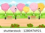 spring park background for...   Shutterstock .eps vector #1280476921