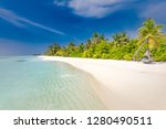 luxury beach resort  beach... | Shutterstock . vector #1280490511
