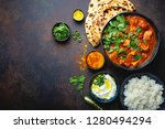 traditional indian dish chicken ... | Shutterstock . vector #1280494294