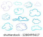 colorful clouds on isolation... | Shutterstock .eps vector #1280495617