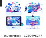 business series set  color 2  ... | Shutterstock .eps vector #1280496247