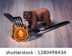 stack of ethereum... | Shutterstock . vector #1280498434