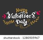 happy valentine's day hand...   Shutterstock .eps vector #1280505967