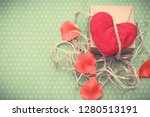 valentines day. red heart... | Shutterstock . vector #1280513191