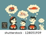 add,background,bank,banking,bicycle,business,car,cash,clouds,concept,container,currency,deposit,dreams,earn
