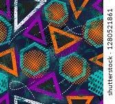 abstract grunge sport pattern... | Shutterstock .eps vector #1280521861
