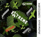 abstract grunge sport pattern... | Shutterstock .eps vector #1280521894