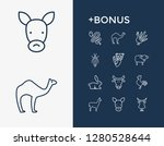 fauna icon set and snake with... | Shutterstock .eps vector #1280528644
