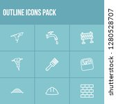 industrial icon set and...
