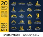 mega set and big group  real... | Shutterstock .eps vector #1280546317