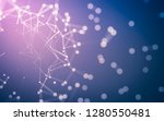abstract polygonal space low... | Shutterstock . vector #1280550481