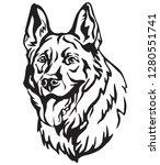 decorative portrait of dog... | Shutterstock .eps vector #1280551741