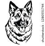 decorative portrait of dog... | Shutterstock .eps vector #1280551744