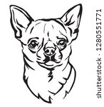 decorative portrait of dog... | Shutterstock .eps vector #1280551771