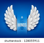 artificial paper wings   vector ... | Shutterstock .eps vector #128055911