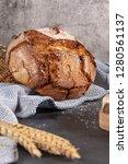 fresh fragrant bread on the... | Shutterstock . vector #1280561137
