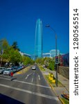 santiago  chile   october 16 ... | Shutterstock . vector #1280565514