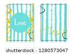 bridal shower card with dots... | Shutterstock .eps vector #1280573047