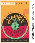 summer disco party invitation... | Shutterstock .eps vector #1280573977