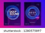 dj party. wavy concert... | Shutterstock .eps vector #1280575897