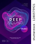 trance event. wavy discotheque... | Shutterstock .eps vector #1280575921