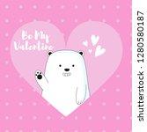 ice bear cute valentine card | Shutterstock .eps vector #1280580187