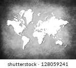 retro world map | Shutterstock . vector #128059241