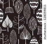 floral linear seamless... | Shutterstock .eps vector #128059811