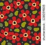 colorful red flowers on the... | Shutterstock .eps vector #128059835