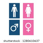 man and woman icon flat vector... | Shutterstock .eps vector #1280610637
