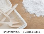 biodegradable plastic lunch box ... | Shutterstock . vector #1280612311