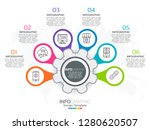 6 step of timeline infographics ... | Shutterstock .eps vector #1280620507