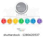 7 parts infographic design... | Shutterstock .eps vector #1280620537
