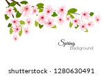 spring nature background with a ... | Shutterstock .eps vector #1280630491