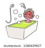 bathing  bathing  senior women...   Shutterstock .eps vector #1280639827