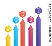 business infographic...   Shutterstock .eps vector #1280647291