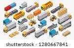 isometric logistics set of... | Shutterstock .eps vector #1280667841