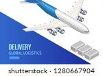 modern airplane isometric style | Shutterstock .eps vector #1280667904