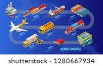 isometric scheme global... | Shutterstock .eps vector #1280667934