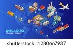 isometric scheme global... | Shutterstock .eps vector #1280667937