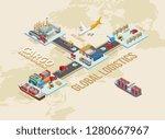 graphic scheme revealing... | Shutterstock .eps vector #1280667967