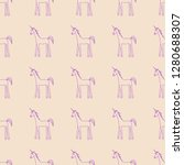 vector seamless pattern with... | Shutterstock .eps vector #1280688307