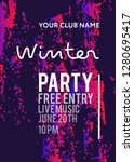 night party banner template for ... | Shutterstock .eps vector #1280695417